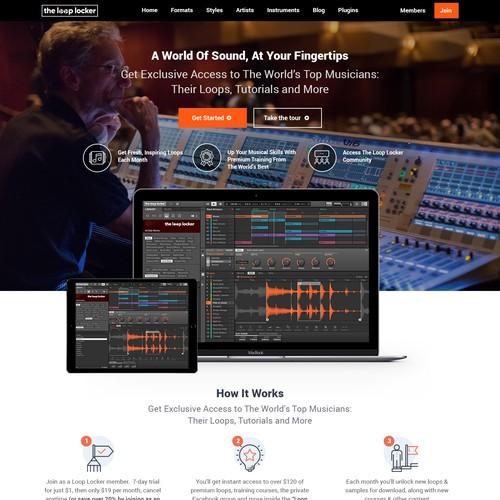 Ecommerce Website Music/Loops Site