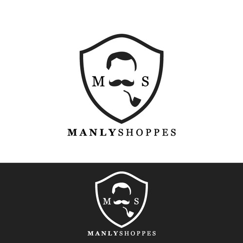 Bold logo concept for manly shoppe