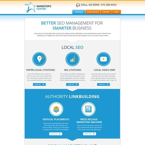 Revamp Pre-Existing Landing Page for MarketersCenter.com