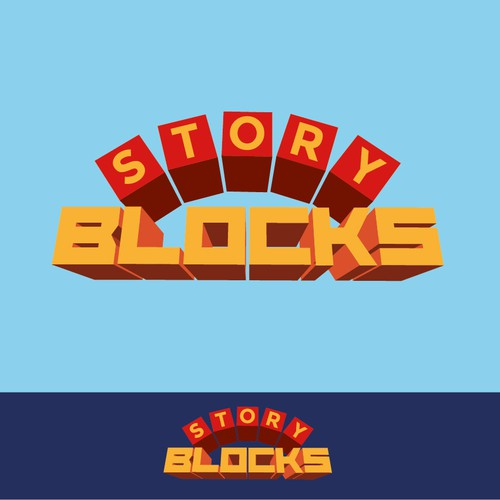 Children's game logo. Story Block