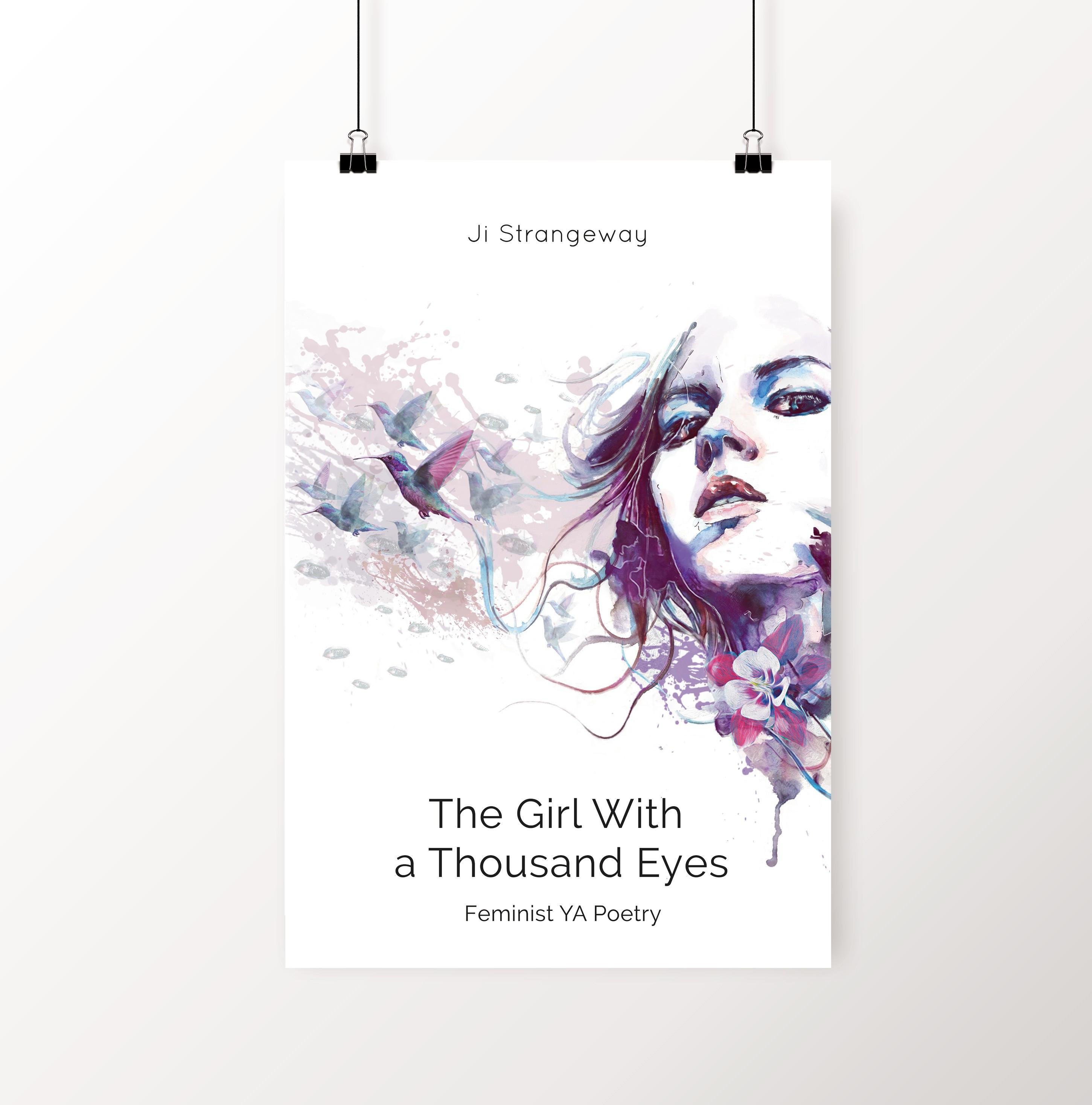 Girl w/ Thousand Eyes Poster 24x36