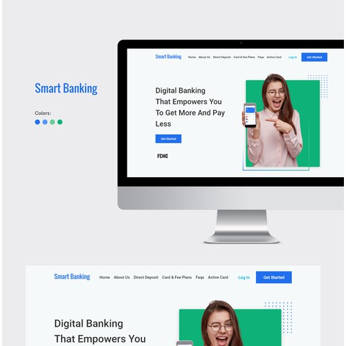 Landingpage SmartBanking apps