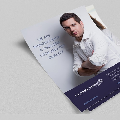 Brochure for high quality shirt business