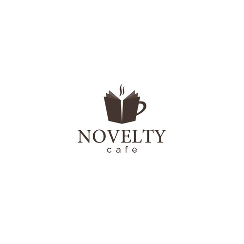 Clean logo for Novelty Cafe