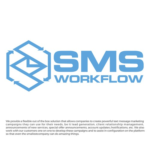 Create a compelling logo that shows what we do for SMS Workflow