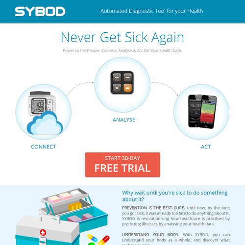 DESIGN A LANDING PAGE FOR A NEW HEALTH TECH COMPANY