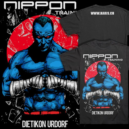 Fighter T-shirt design for Nippon Training