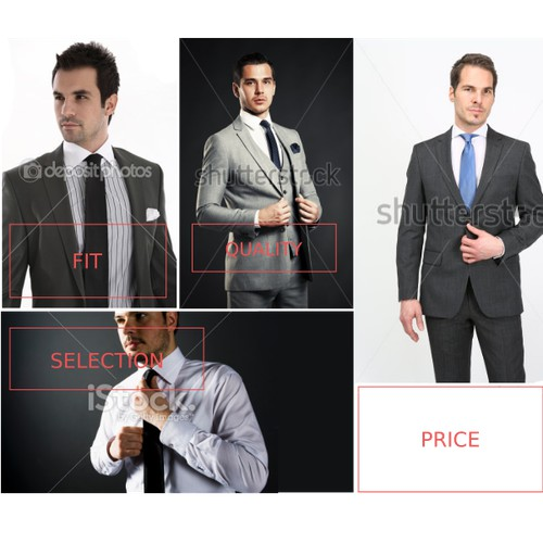 Fashionable email design for Suit Club