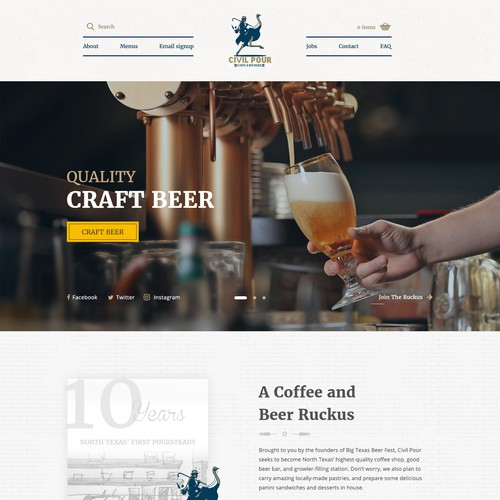 Modern Coffee and Beer Concept Design