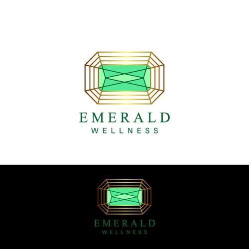 Winning design for 'Emerald Wellness'.