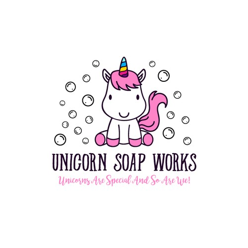 Rejected logo for Unicorn Soap Works