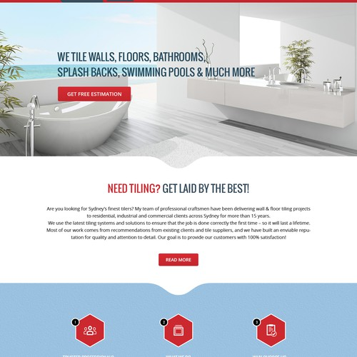 A Clean, Responsive Creative Web Design for a Tiling company