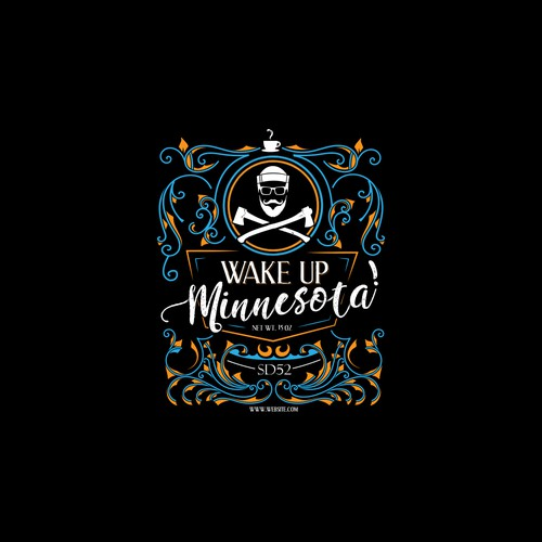 Retro design for Wake up Minnesota coffe