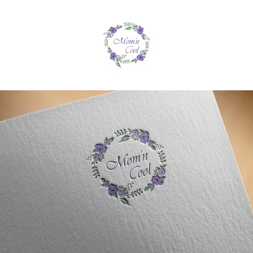 elegant logo for Mom'n Cool