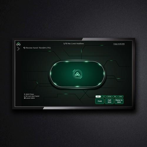 modern table design for poker online game