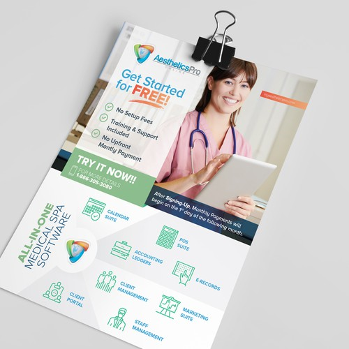 Aesthetics Pro One Page Advertisement