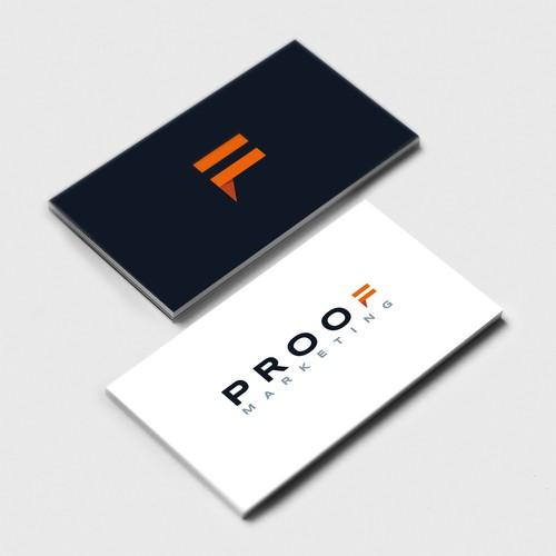 Bold logo for Proof Marketing