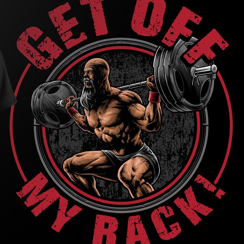 """Old man powerlifter yelling """"Get off my rack!"""""""