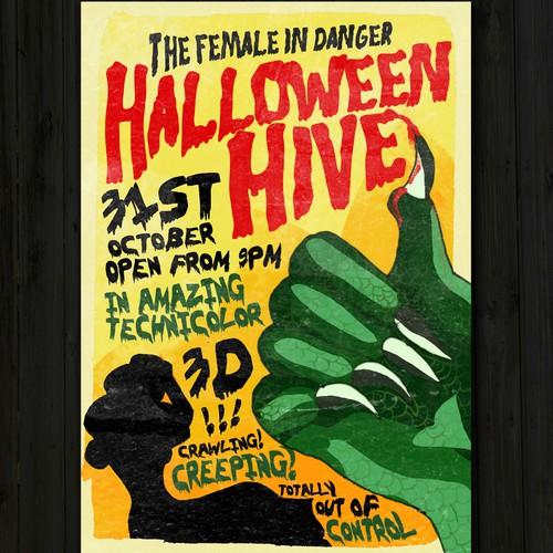 B-Movie Style Halloween Flyer
