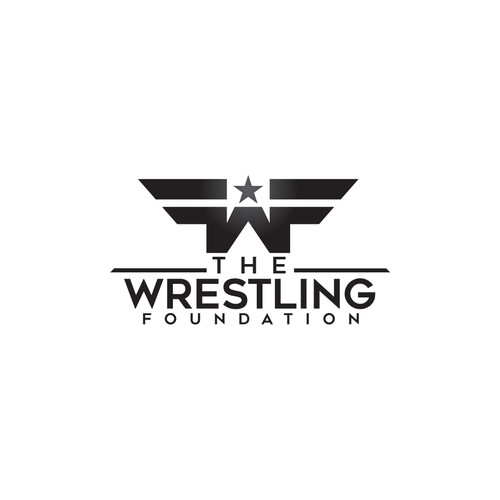 bold logo for the wrestling foundation
