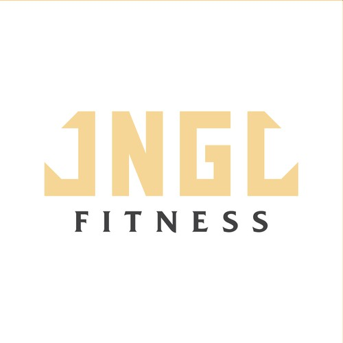 Minimal wordmark for fitness brand
