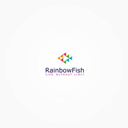 Create a company logo for RainbowFish Healthcare International
