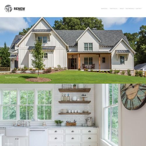 Home Builder Squarespace Website