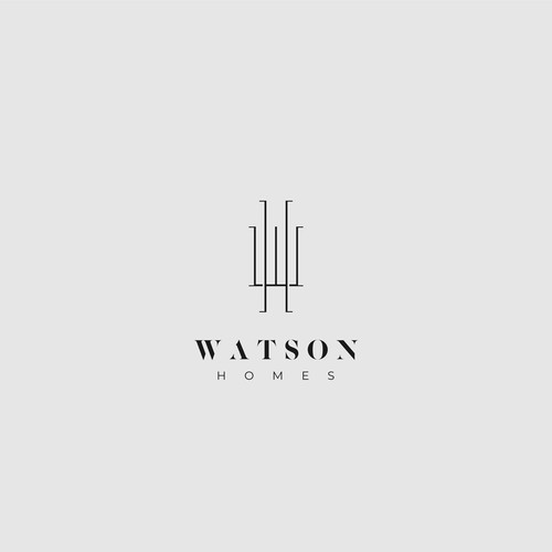 Elegant logo for a luxury property company