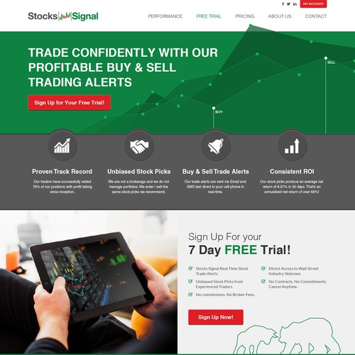 Homepage Design For Stock Market Service