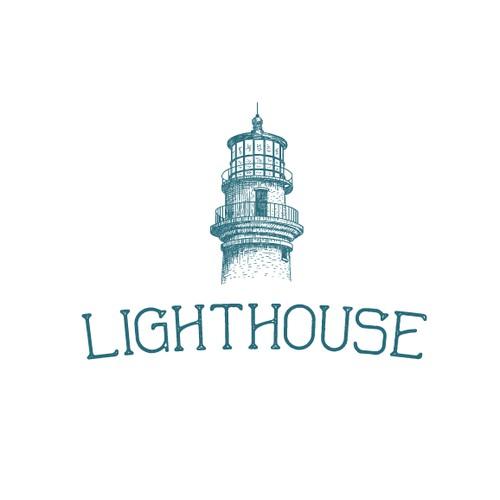 Vintage Hand-drawn Logo for Lighthouse