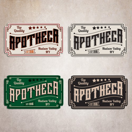 Apothecary inspired juice and smoothie logo