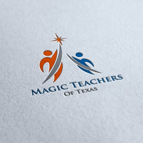 a logo for magic teachers of texas, feel free to message me and invite on 1 on 1 project.