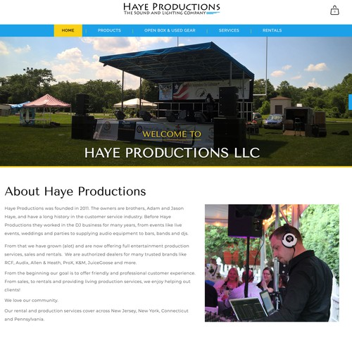 Ecommerce Design for Haye Productions
