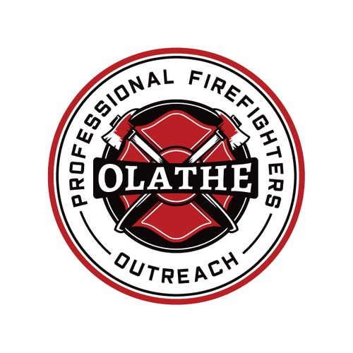 Vintage Logo for Firefighter Charity