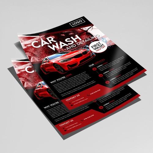 Flyer Design for car wash shop