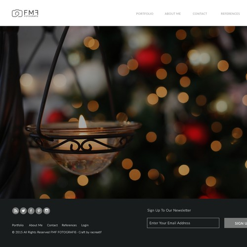 Simple yet Elegant Web Concept For FMF Photography