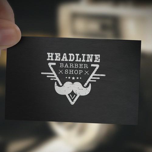 Vintage logo for barber shop