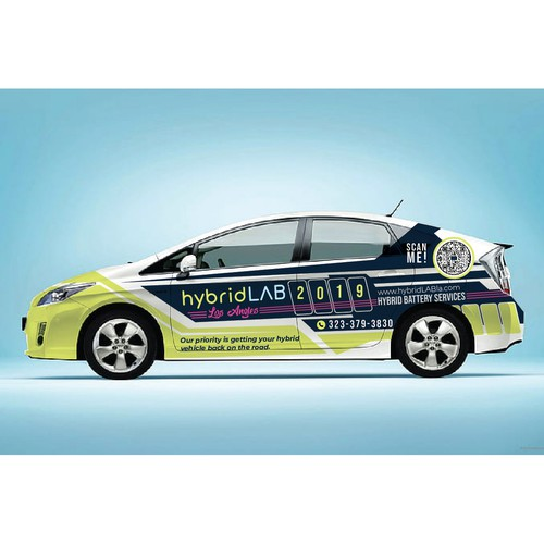 HybridLab Car wrap