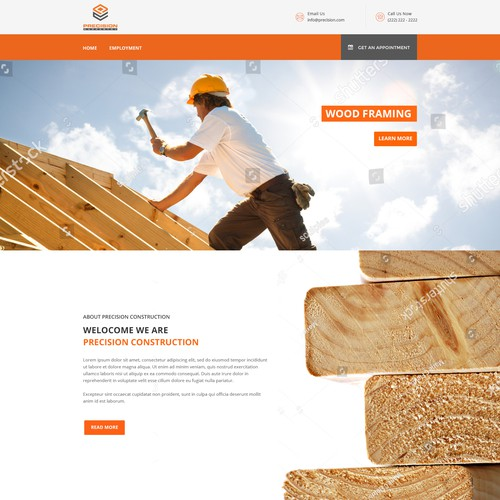 website concept for construction firm