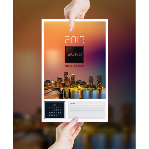 Smart Calendar Postcard for Brooklyn NY Real Estate Agent