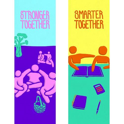 Bookmark illustrations