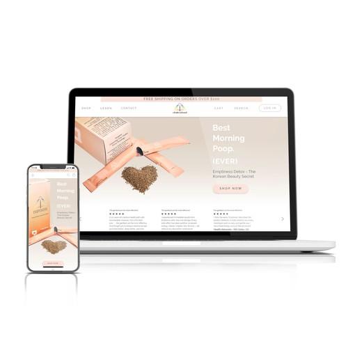 Zen Homepage for a Korean Healing website