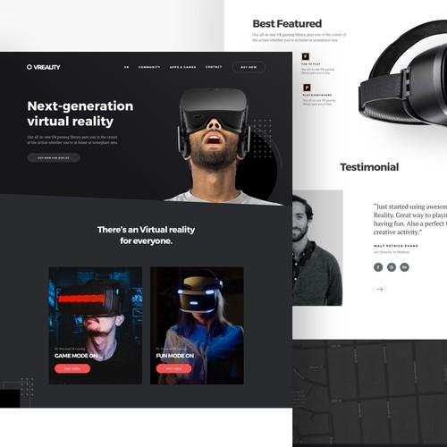 Website Virtual Reality Exploration