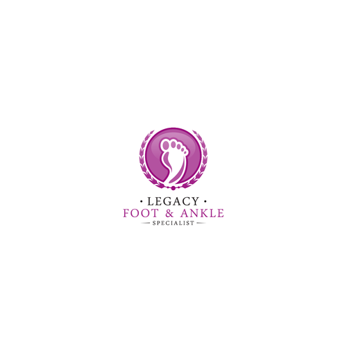 Create a modern/elegant logo for concierge podiatry practice