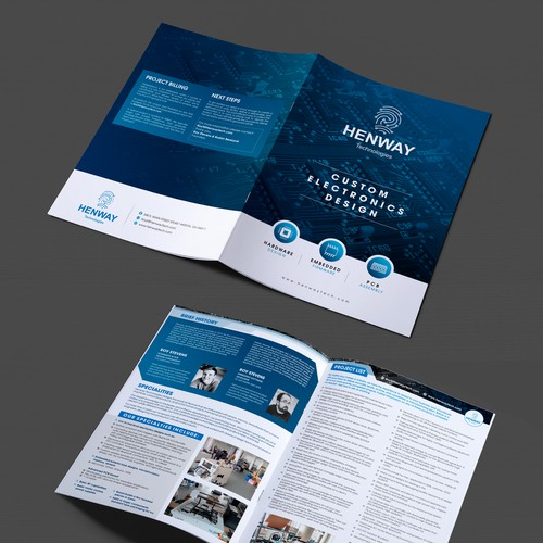 Improve an existing brochure by adding color, images, and better text placement