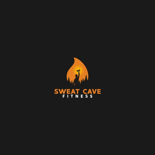 Logo concept for sweat cave fitness