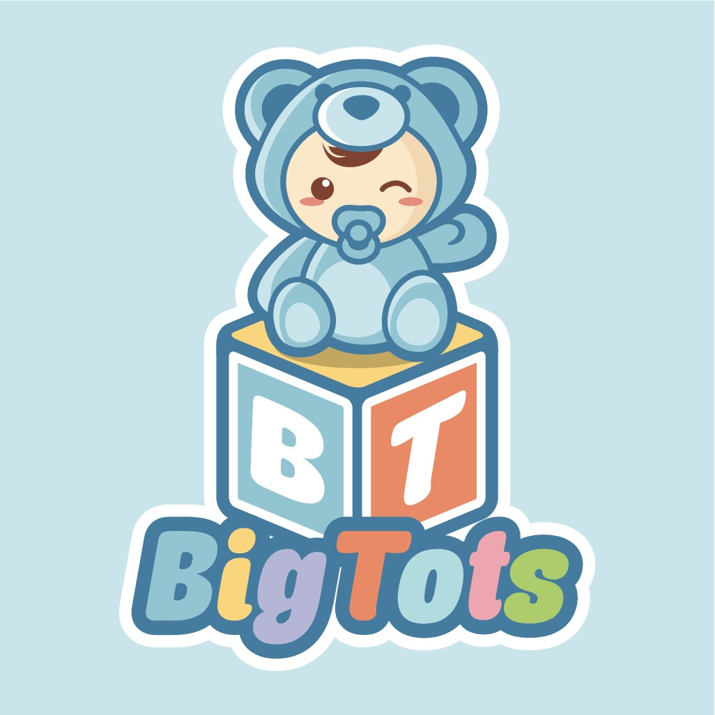 create a cute baby clothing logo for Big Tots