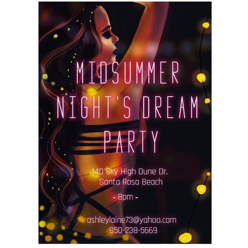 Dream party invitation.