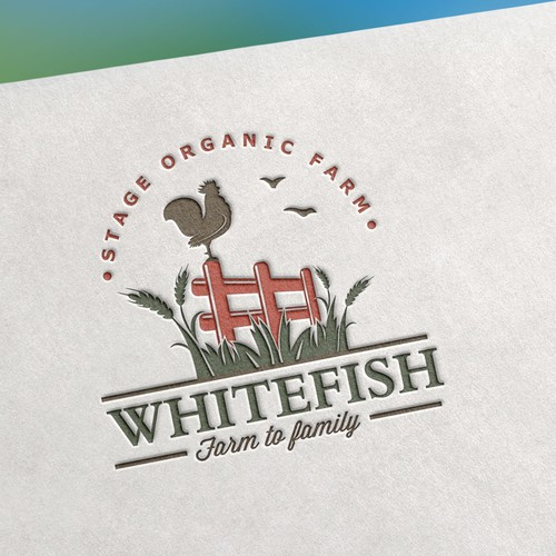 Logo design for Whitefish stage organic farm