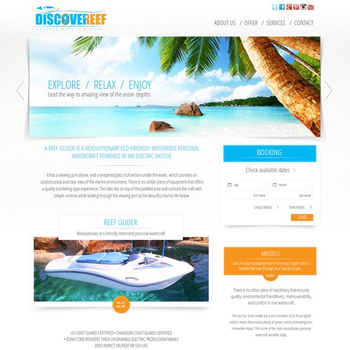 Website Reef Booking